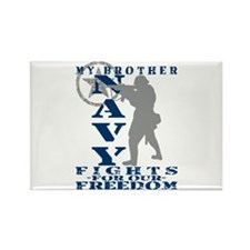 Bro Fights Freedom - NAVY Rectangle Magnet