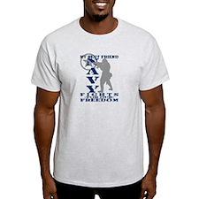 Best Friend Fights Freedom - NAVY T-Shirt