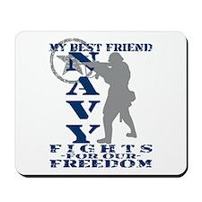 Best Friend Fights Freedom - NAVY Mousepad