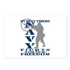 Best Friend Fights Freedom - NAVY Postcards (Packa