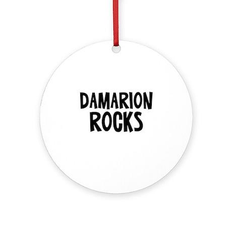Damarion Rocks Ornament (Round)