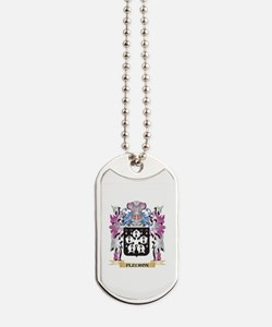 Fleuron Coat of Arms (Family Crest) Dog Tags