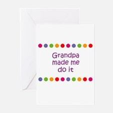 Grandpa made me do it Greeting Cards (Pk of 10)