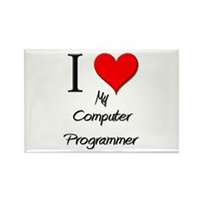 I Love My Computer Programmer Rectangle Magnet