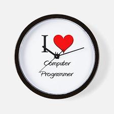 I Love My Computer Programmer Wall Clock