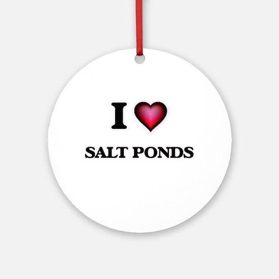 I love Salt Ponds Virginia Round Ornament
