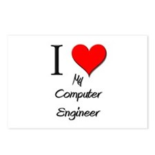 I Love My Computer Engineer Postcards (Package of