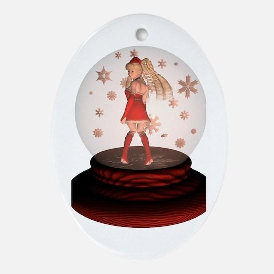 Ladyfrogs Oval Ornament