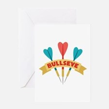 Darts Bullseye Greeting Cards