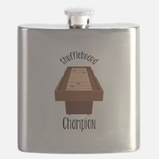 Shuffleboard Champion Flask