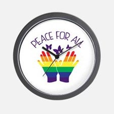 Peace For All Wall Clock
