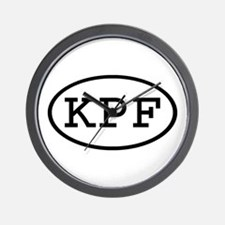 KPF Oval Wall Clock