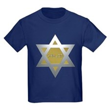 Silver and Gold Jewish Star T