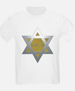 Silver and Gold Jewish Star T-Shirt