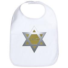 Silver and Gold Jewish Star Bib