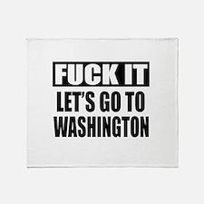 Let's Go To Washington Throw Blanket