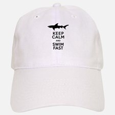 Sharks! Keep Calm and Swim Fast Baseball Baseball Baseball Cap