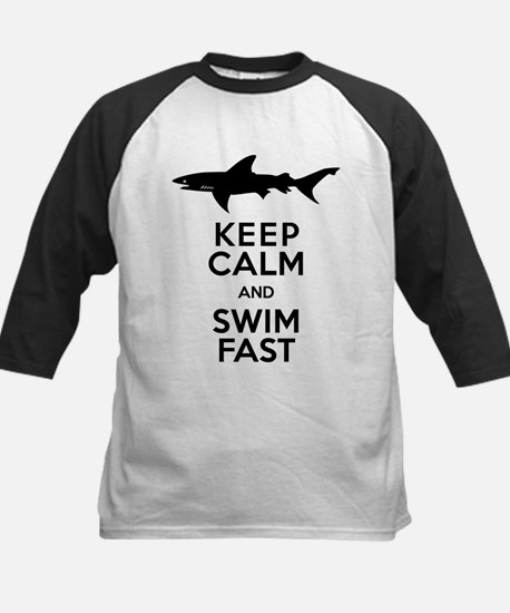 Sharks! Keep Calm and Swim Fast Baseball Jersey