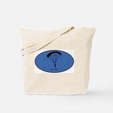 Skydiving (euro-blue) Tote Bag