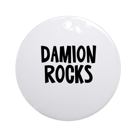 Damion Rocks Ornament (Round)