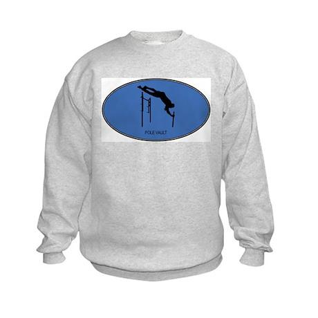 Pole Vault (euro-blue) Kids Sweatshirt