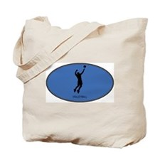 Mens Volleyball (euro-blue) Tote Bag