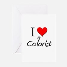 I Love My Colorist Greeting Cards (Pk of 10)