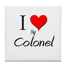 I Love My Colonel Tile Coaster