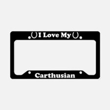 I Love My Carthusian Horse License Plate Holder