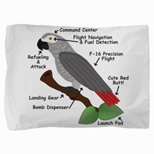 Anatomy of an African Grey Parrot Pillow Sham