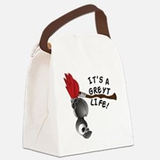 It's A Greyt Life Canvas Lunch Bag