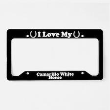 I Love My Camarillo White Horse License Plate Hold