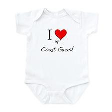 I Love My Coast Guard Infant Bodysuit