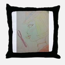 Girl Detective Throw Pillow