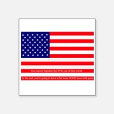 "Good men with guns Square Sticker 3"" x 3"""