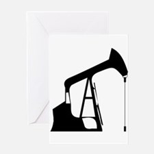 Oil Rig Greeting Cards