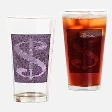 Mosaic Dollar Symbol Drinking Glass