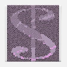 Mosaic Dollar Symbol Tile Coaster