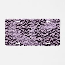 Mosaic Dollar Symbol Aluminum License Plate