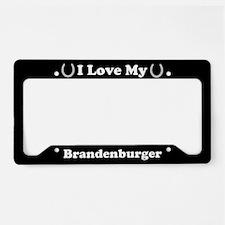I Love My Brandenburger Horse License Plate Holder