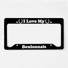 I Love My Boulonnais Horse License Plate Holder
