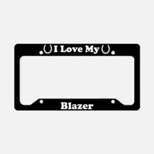 I Love My Blazer Horse License Plate Holder