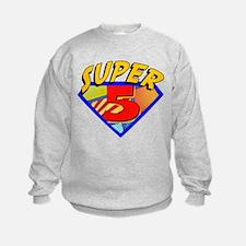 Superhero 5 Birthday Sweatshirt