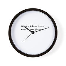 where is J. Edgar Hoover Wall Clock