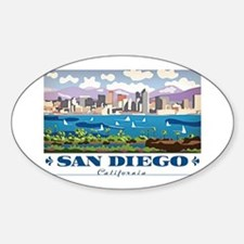 Unique San diego Sticker (Oval)