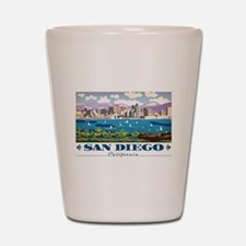 San Diego Skyline Shot Glass