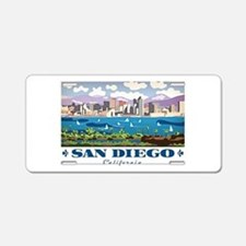 San Diego Skyline Aluminum License Plate