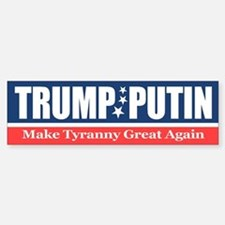 Trump Putin Bumper Car Car Sticker