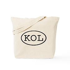 KOL Oval Tote Bag