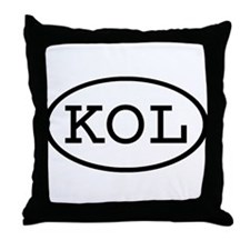 KOL Oval Throw Pillow